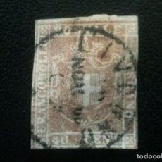 Sellos: TOSCANA, ITALIA, YVERT Nº 21 , DESCOLORIDO, 1860. Lote 89361328