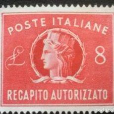 Sellos: ITALIA , CORREO URGENTE EXPRES , YVERT Nº 34 SIN GOMA , 1947. Lote 89365496