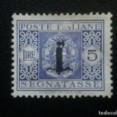 Sellos: ITALIA, REPÚBLICA SOCIAL ITALIANA, TASAS , YVERT Nº24 SIN GOMA, 1944. Lote 89368252