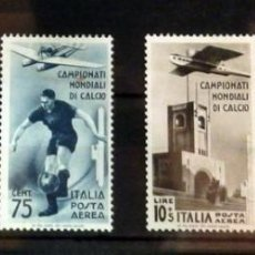 Sellos: ITALIA, SERIE AEREA, YVERT 64/67, NUEVO CON CHARNELA, VALOR CATALOGO 100 EUROS. Lote 90452319