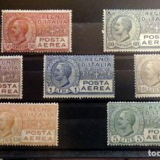 Sellos: REGNO D'ITALIA 1926-28 POSTA AEREA EFFIGE V.EMANUELE III YVERT 2/9. MLH ,VALOR CATALOGO 100 EUROS. Lote 90452544