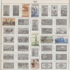 Sellos: ITALIA LOTE DE SELLOS USADOS ANTIGUOS PEGADOS EN HOJAS SCOTT 1862-1945. Lote 95576691