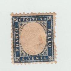 Sellos: ITALIA LOTE DE SELLOS ANTIGUOS DE FRANCO BOLLO 1865 MALAS CONDICIONES ESCASOS. Lote 95715239