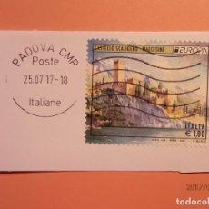 Sellos: ITALIA 2017 - CASTILLO - CASTELLO SCALIGERO , MALCESINE - PADOVA - EUROPA. Lote 98618307