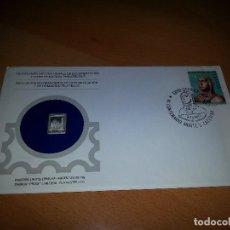 Sellos: SOBRE PRIMER DIA CON LINGOTE DE PLATA. ITALIA ABRIL 1980. EMISIÓN PROOF LIMITADA.. Lote 98774255
