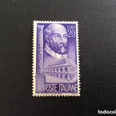 Sellos: ITALIA 1949 IVERT 546 *** 4º CENTENARIO DEL ARQUITECTO ANDREA PALLADIO - PERSONAJES. Lote 108056723