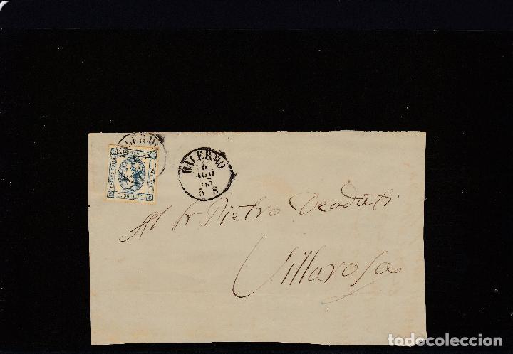 FRONTAL DE PALERMO A VILLAROSA MATASELLOS PALERMO 4/8/1863 (Sellos - Extranjero - Europa - Italia)