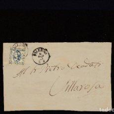 Sellos: FRONTAL DE PALERMO A VILLAROSA MATASELLOS PALERMO 4/8/1863. Lote 110978415