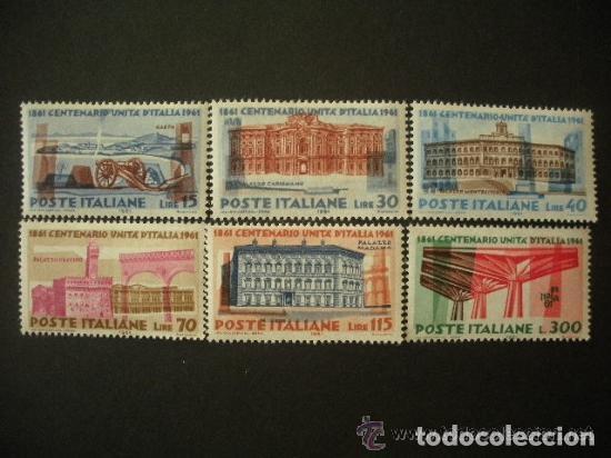 ITALIA 1961 IVERT 852/7 *** CENTENARIO DE LA UNIDAD ITALIANA - MONUMENTOS (Sellos - Extranjero - Europa - Italia)