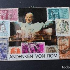 Sellos: CUADRO CON SELLOS DE ITALIA- ANDENKEN VON ROM - LISTO PARA COLGAR - NUEVO. Lote 113096903