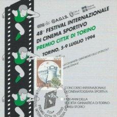 Sellos: 1994. ITALIA/ITALY. 48º FESTIVAL INTERNAC. CINE DEPORTIVO CIUDAD DE TURÍN. DEPORTES/SPORTS. CINEMA.. Lote 113219719