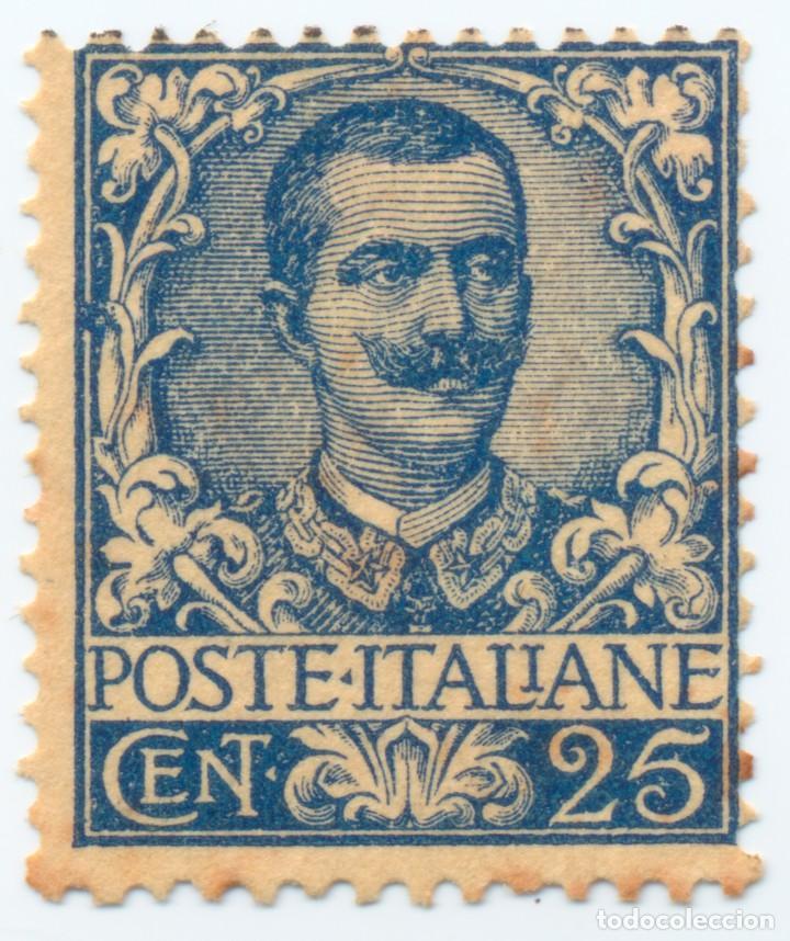 SELLO ITALIA 1901 VICTOR EMMANUEL III - 25 CTS - CAT. SASS 73 (Sellos - Extranjero - Europa - Italia)