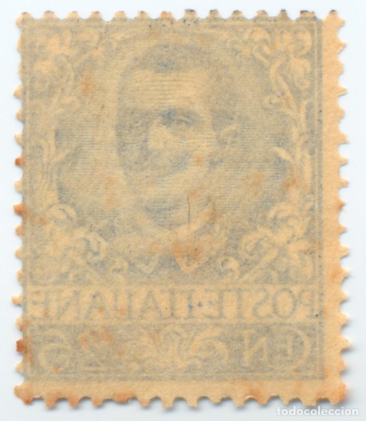 Sellos: SELLO ITALIA 1901 VICTOR EMMANUEL III - 25 CTS - CAT. SASS 73 - Foto 2 - 114505931