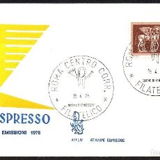 Sellos: SOBRE PRIMER DIA ITALIA ESPRESSO 1976. Lote 117268699