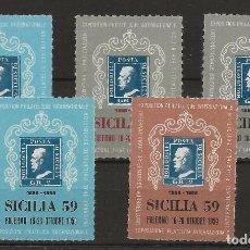 Sellos: R43/ ITALIA, VIÑETAS CENTENARIO DEL SELLO ***. Lote 128152983