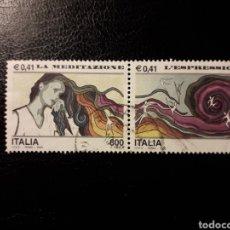 Sellos: ITALIA. YVERT 2469/70. SERIE COMPLETA USADA. MEDITACIÓN Y EXPRESIÓN. Lote 128591131