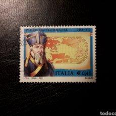Sellos: ITALIA. YVERT 2573. SERIE COMPLETA USADA. PADRE MATTEO RICCI.. Lote 128591171