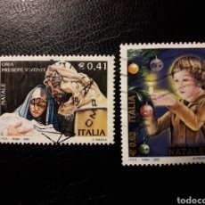Sellos: ITALIA. YVERT 2613/4. SERIE COMPLETA USADA. NAVIDAD. Lote 128591182