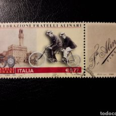 Sellos: ITALIA. YVERT 2623. SERIE COMPLETA USADA. BICICLETAS. Lote 128591203