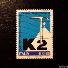 Sellos: ITALIA. YVERT 2729. SERIE COMPLETA USADA. ALPINISMO. Lote 128591227