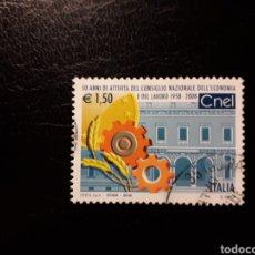 Sellos: ITALIA. AÑO 2008. SELLO USADO. CONSEJO NACIONAL DE ECONOMÍA.. Lote 128591254