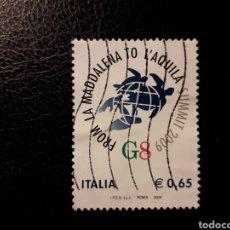 Sellos: ITALIA. AÑO 2009. SELLO USADO. CUMBRE DEL G-8.. Lote 128591302