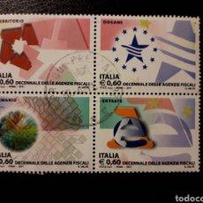 Sellos: ITALIA. AÑO 2011. 4 VALORES USADOS. AGENTES FISCALES.. Lote 128591332