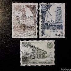 Sellos: ITALIA. YVERT 2201/3. SERIE COMPLETA USADA. UNIVERSIDADES. Lote 128679934