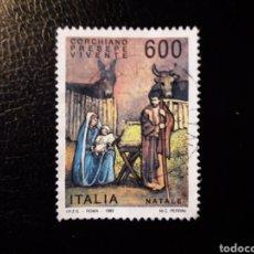 Sellos: ITALIA. YVERT 2029. SELLO SUELTO USADO. NAVIDAD. Lote 128679943