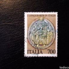 Sellos: ITALIA. YVERT 1887. SELLO SUELTO USADO. LOS LOMBARDOS EN ITALIA. Lote 128680047