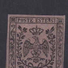 Sellos: 1855 ITALIA ITALY MODENA 9C MINT RARE - RARO ALTO VALOR FILATELICO - HIGH VALUE. Lote 128686656