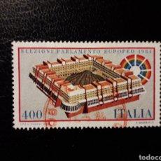 Sellos: ITALIA. YVERT 1610. SERIE COMPLETA USADA. PARLAMENTO EUROPEO. Lote 128944740