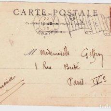 Sellos: POSTAL CIRCULADA DE ROMA ITALIA A PARIS FRANCIA AÑO 1903. Lote 132350406