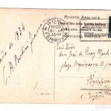 Sellos: POSTAL CIRCULADA DE ROMA ITALIA A BARCELONA ESPAÑA AÑO 1933 FELICITACION NAVIDEÑA. Lote 132350434