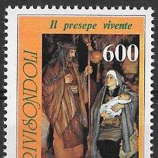 Sellos: ITALIA 1991. NAVIDAD. PESEBRE VIVIENTE DE RIVISONDOLI. YT 1898 NUEVO (MNH). Lote 133467514