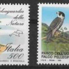 Sellos: ITALIA 1991. PROTECCIÓN NATURALEZA. ANIMALES. YT 1926-29 NUEVO (MNH). Lote 133471470
