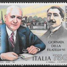 Sellos: ITALIA 1991. DÍA DEL SELLO. BOLAFFI. YT 1930 NUEVO (MNH). Lote 133472658