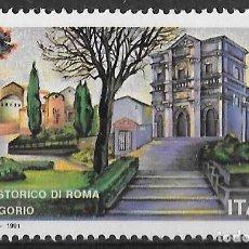 Sellos: A FACIAL. ITALIA 1991. IGLESIA SAN GREGORIO, ROMA. YT 1911 NUEVO (MNH). Lote 133475522