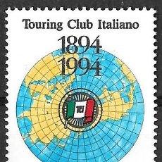 Sellos: A FACIAL. ITALIA 1994. CENTENARIO TOURING CLUB ITALIANO. YT 2084 NUEVO (MNH). Lote 133671810