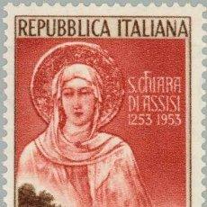 Sellos: ITALIA 1953 IVERT 656 *** 7º CENTENARIO DE LA MUERTE DE SANTA CLARA DE ASIS. Lote 139089694