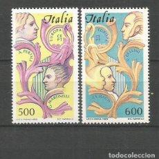 Sellos: ITALIA YVERT NUM. 1664/1665 ** SERIE COMPLETA SIN FIJASELLOS. Lote 143315858