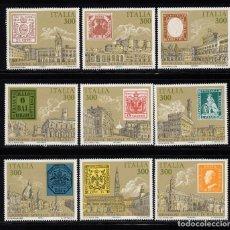 Sellos: ITALIA 1677/85** - AÑO 1985 - ITALIA 85, EXPOSICION FILATELICA MUNDIAL. Lote 143724182