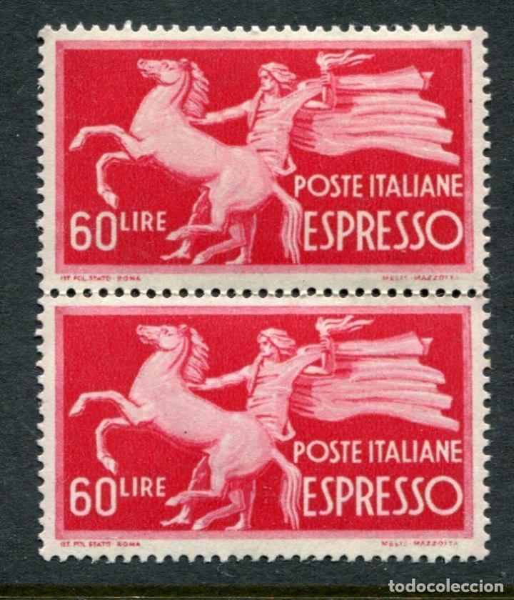 ITALIA 1945-52 EXPRESS 60L MNH PAIR CAT EURO 170 - 18/8 (Sellos - Extranjero - Europa - Italia)