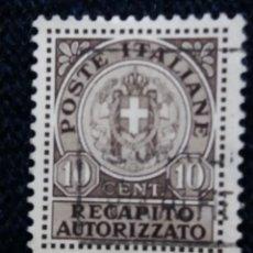 Sellos: SELLO ITALIANO. POSTE ITALIANE 10 CENT RECAPITO AUTORIZZATO. Lote 144586634