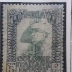 Sellos: SELLO. COLONIE ITALIANE LIBIA 5 CENT. 1921. USADO.. Lote 144645518