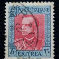 Sellos: SELLO.POSTE COLONIE ITALIANE ERITREA 20 CENT. 1931. USADO.. Lote 144648234