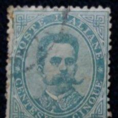 Sellos: SELLO.POSTE ITALIANE. REY HUMBERTO L. CENTÉSIMO CINQUE 1890. USADO.. Lote 144658430