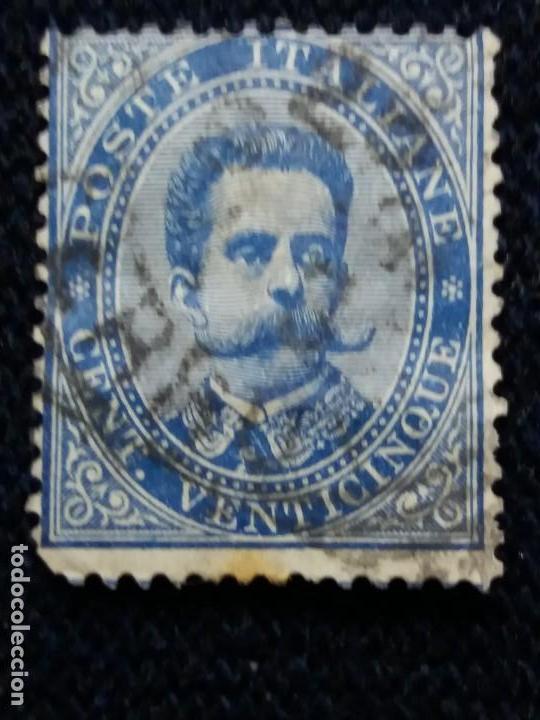 SELLO.POSTE ITALIANE. REY HUMBERTO L. CENT VENTICINQUE. 1890. USADO. (Sellos - Extranjero - Europa - Italia)