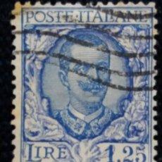 Sellos: SELLO.POSTE ITALIANE. REY VICTOR EMMANUEL LLL.1.25 LIRE. 1909. USADO.. Lote 144718798