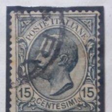Sellos: SELLO POSTE ITALIANO. FRANCOBOLO 15 CENT, ANO 1910. USADO. Lote 144791922